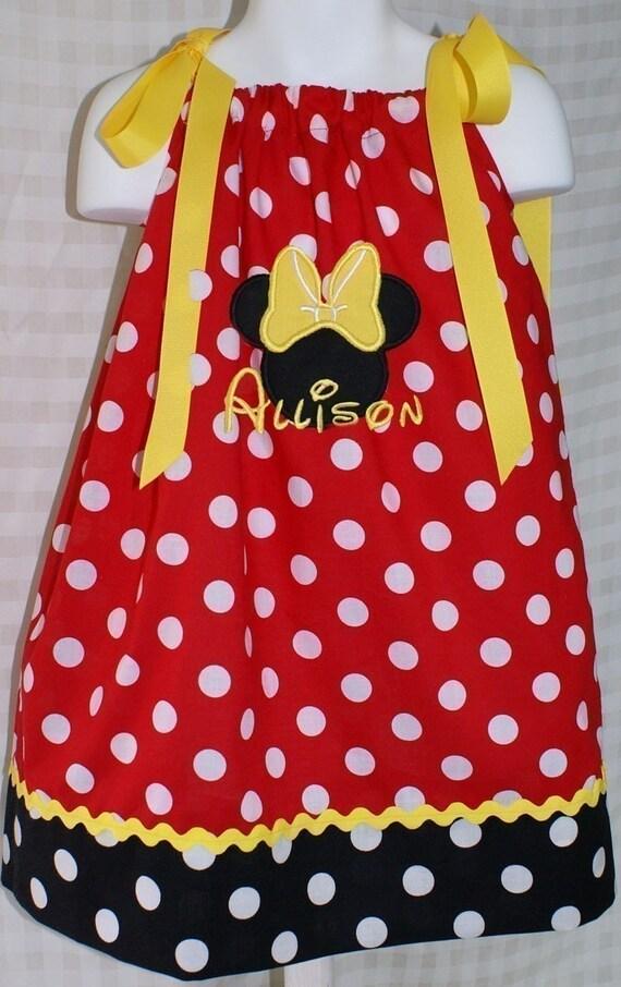 Minnie Mouse Pillowcase Dress Sizes 6mos-8yr