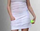 Bottoms Skirts Skirt SALE - Short Skirt Asymmetrical White