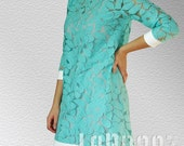 Dresses Day Party Dress Turquoise Lace Dress
