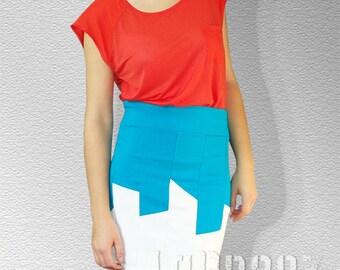 SALE Day Light City Skyline Skirt