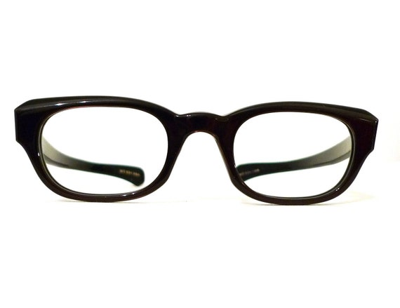 Brown over Black Wayfarers VTG  60s NOS MCM Unused Faux Horn Rimmed Eyeglasses Classic Geek Chic Mad Men Style Frame Prescription Quality