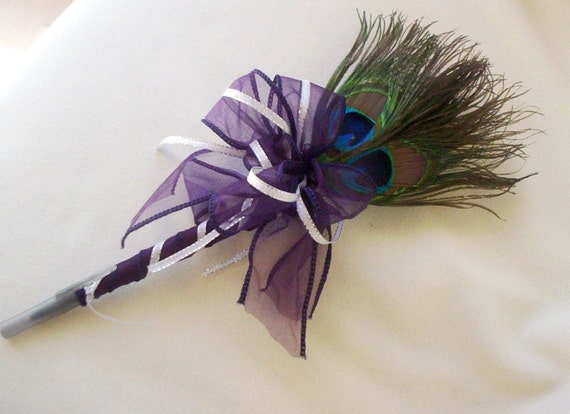 Peacock Wedding Accessories Feather Pen flower Pen Guest book signing pen bridal accessory