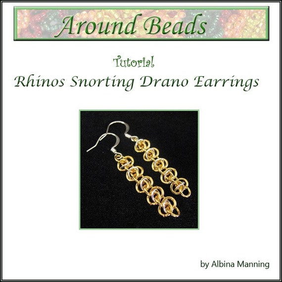 Rhinos Chain Maille Earrings Tutorial