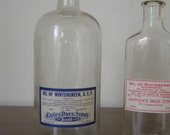 Antique Glass Apothecary Bottle - Oil of Wintergreen - Cases Drug Store - Logan Ohio
