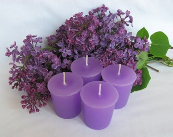 LILACS IN BLOOM (4 votives or 4-oz soy jar candle)