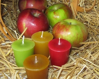 APPLE LOVERS SAMPLER (set of 4 votive candles)