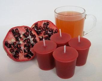 POMEGRANATE CIDER (4 votives or 4-oz soy jar candle)