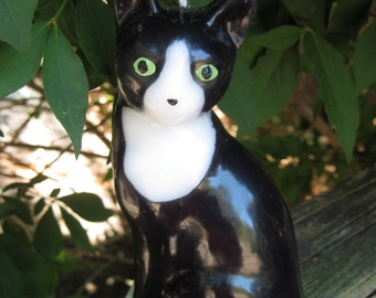 Baldwin the Black and White cat candle - 100% CHARITABLE DONATION