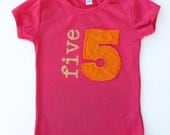 Little girls Birthday Shirt, vintage applique, High Quality, 1 2 3 4 5 6 7,  Birthday party shirt, 1st, 2nd, 3rd, 4th, 5th,