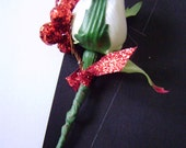 White Winter Wedding Boutonniere Collection 6 pieces