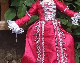 "Marie Antoinette style Sewing Pattern for 16"" ABJDs"