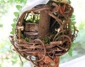 Woodland Fairy House Garden Topiary Fairy Chair
