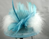 Light Aqua Mini Top Hat Kentucky Derby Wedding Hat