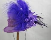 Purple Mini Top Hat Fascinator Kentucky Derby Wedding Hat
