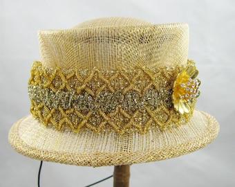 Mini Top Hat - Gold Bling