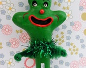 Lucky Shamrock Folk Art Clothes Pin Ornament