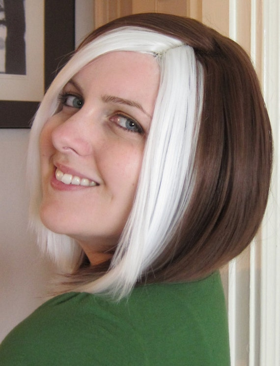 Rogue wig, made to order, high quality one of a kind 'X-Men' bob