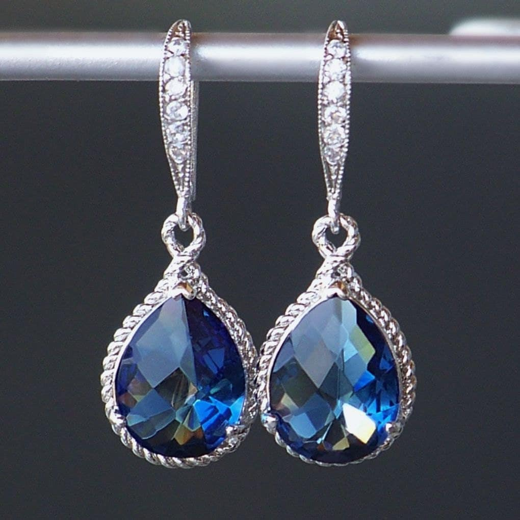 Sapphire Blue Crystal Teardrop Earrings In Silver. Giraffe Necklace. Jewelry Stores Near Me. 24k Gold Necklace. Thick Gold Bangle Bracelet. Ethical Wedding Rings. Electronic Watches. Cathy Waterman Rings. Art Deco Diamond Bracelet