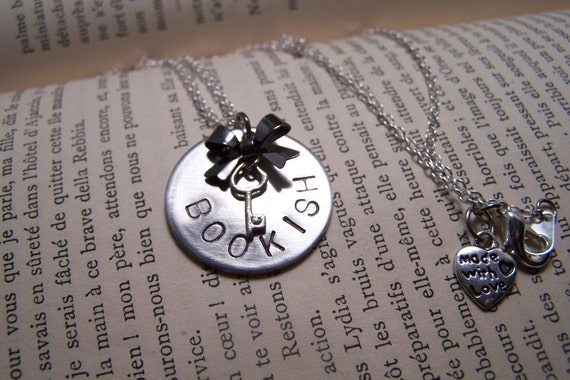 Bookish Necklace for Book Lovers