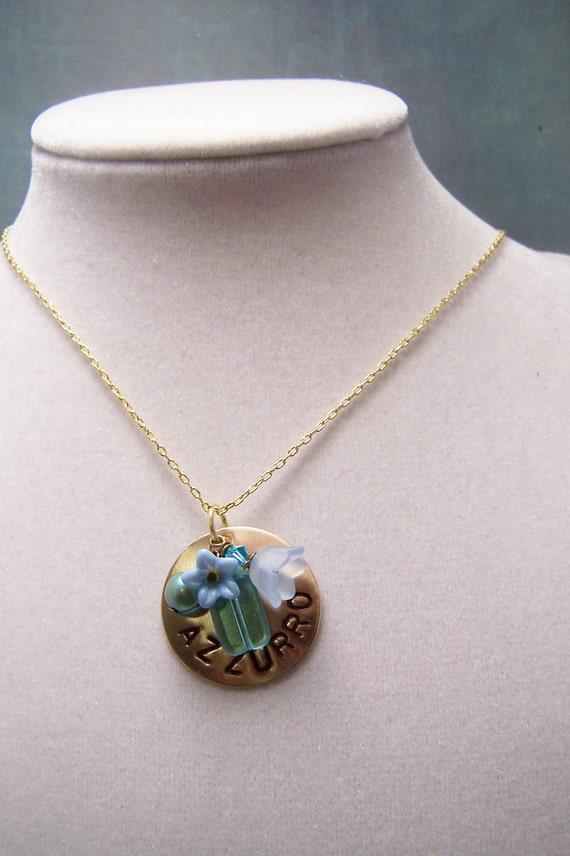 Italian Necklace ... Azzurro... Blue