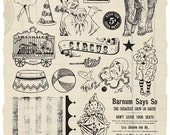 Big Top Rubber Stamp Collection - Circus