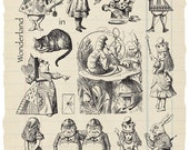 Alice In Wonderland Rubber Stamp Collection