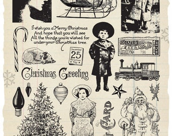 Christmas Wish Rubber Stamp Collection