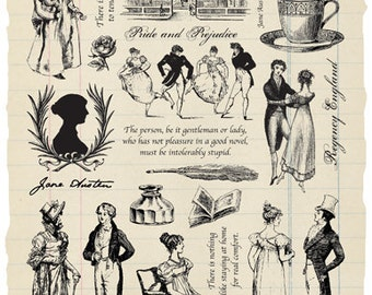 Jane Austen Rubber Stamp Collection