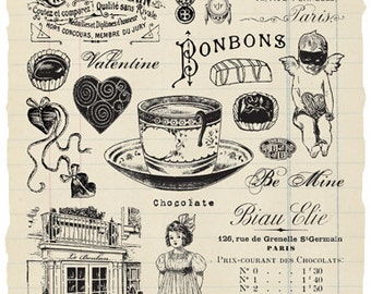 Bonbon rubber stamp collection