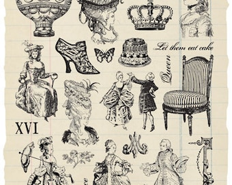 Court of Versailles Rubber Stamp Collection - Marie Antoinette