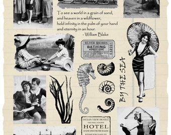 By the Sea Rubber Stamp Collection