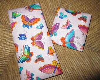 Magic Wallet, Laurel Burch, Butterflies on Lavendar,  Mini Magic Wallet