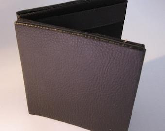 Magic Wallet, Black Flat Leather Look Mini Magic Wallet