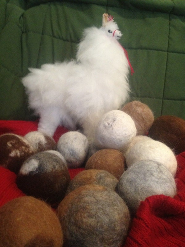 Alpaca Felted Dryer Balls Set Of 4 By Coldwateralpacaranch