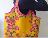 Reversible Tote Bag PDF Sewing Pattern and Tutorial
