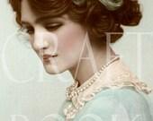 Vintage Digital Download Antique Edwardian Actress 'Lily Elsie' Photo Postcard Photograph 300dpi Print 191P