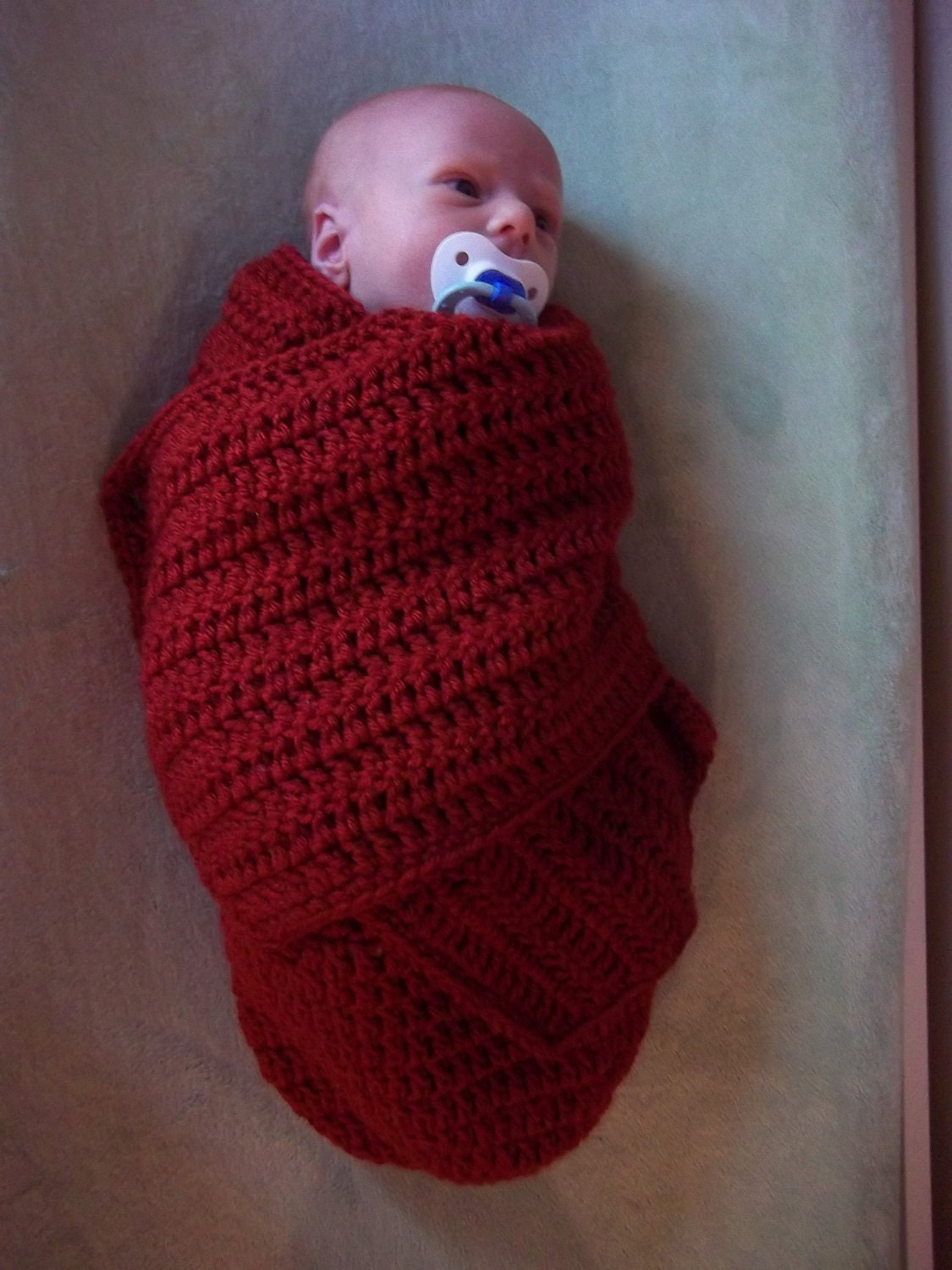 Crochet Pattern For Shell Baby Blanket : Swaddler Crochet Pattern Swaddle Blanket by browneyedgirl1489