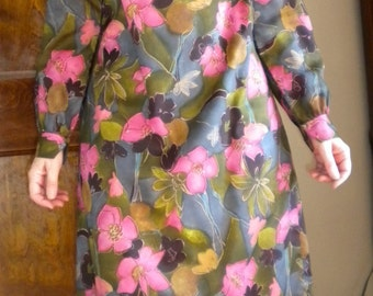 CLEARANCE Vintage 1960s Tori Richard Honolulu Muu Muu Size 12, Medium
