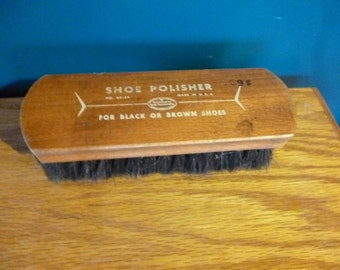 SALE Vintage Wooden Shoe Polishing Brush, Good Housekeeping Seal of Approval, Made in USA