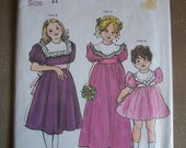 Girls Dress Childrens Corner Pattern 76 Margaret Three Variations of Collar with lace Size 3 4