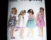 Girls Sailor Sundress  Dress Pattern Sz 5 6X Vintage 1993 Simplicity 8390