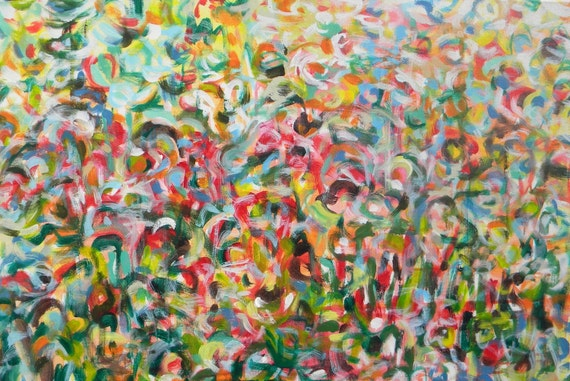 Large original abstract expressionist painting - After Noon - a dedication to Lee Krasner