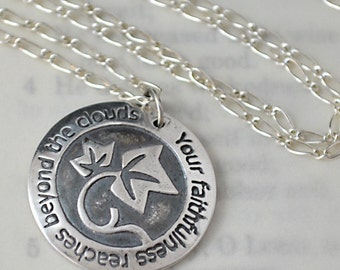 Your Faithfulness Necklace in Fine Silver and Sterling Silver