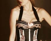 BARRYMORE Sexy Plus Size Circus Burlesque corset costume Pink Black XXL/2XL