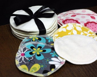 Nursing Pads by Lil Adi- Bamboo Velour/ Bamboo Fleece-  2 sets- perfect shower gift for a new mom