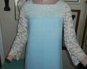 Lace Party dress baby blue and lace design