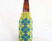 PDF Knitting Pattern - Argyle Beer Coozie