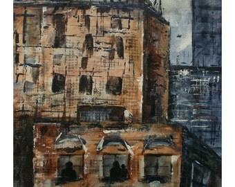City of Crime II - Original Acrylic Painting
