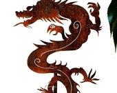 Chinese Dragon Garden Art Stake for the Home or Garden