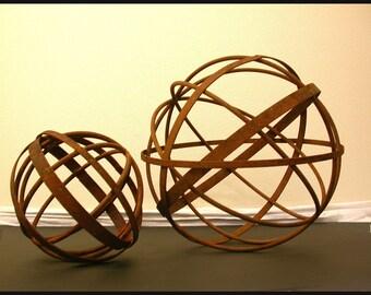 "Garden Art Metal Sphere 14"" Diameter Sculpture Home and Garden Decor"